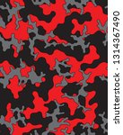 black  red and gray camouflage... | Shutterstock .eps vector #1314367490