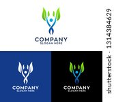 leaf and people logo design | Shutterstock .eps vector #1314384629