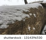 snow covered tree trunk. nature ... | Shutterstock . vector #1314396530