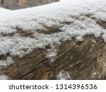 snow covered tree trunk  close... | Shutterstock . vector #1314396536
