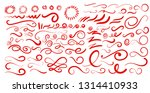 set of swashes  swoops ... | Shutterstock .eps vector #1314410933