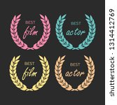 gold award laurel wreath.... | Shutterstock .eps vector #1314412769