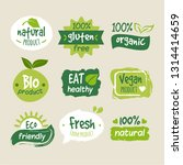 colorful organic food logo | Shutterstock .eps vector #1314414659