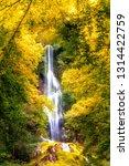 waterfall swabian jura in fall   Shutterstock . vector #1314422759