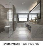 3d rendering modern bathroom... | Shutterstock . vector #1314427709