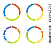 colored circle arrows for... | Shutterstock .eps vector #1314428006