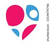 love logo  silhouette people in ... | Shutterstock .eps vector #1314474746