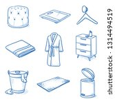 set of bathroom textiles and... | Shutterstock .eps vector #1314494519
