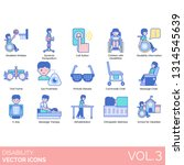 disability icons including... | Shutterstock .eps vector #1314545639