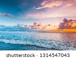 amazing colorful sunset over... | Shutterstock . vector #1314547043