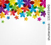 rainbow floral background with...   Shutterstock .eps vector #131455490