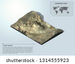isometric terrain 3d map for... | Shutterstock . vector #1314555923