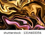 Luxury Purple And Gold Liquid...