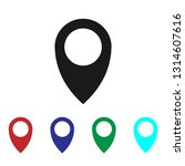 location icon vector | Shutterstock .eps vector #1314607616
