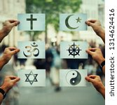 religion conflicts as global... | Shutterstock . vector #1314624416