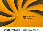 orange black abstract... | Shutterstock .eps vector #1314625073