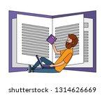 online education man cartoon   Shutterstock .eps vector #1314626669