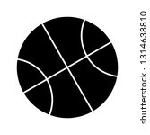 basketball glyph black icon | Shutterstock .eps vector #1314638810