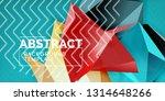 low poly design 3d triangular... | Shutterstock .eps vector #1314648266