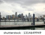 miami skyline sits in the... | Shutterstock . vector #1314649949