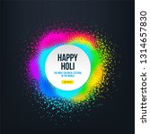 abstract happy holi banner with ... | Shutterstock .eps vector #1314657830