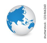 world map and globe detail... | Shutterstock .eps vector #131466260