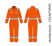 orange work overalls with...   Shutterstock .eps vector #1314674549