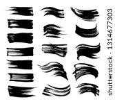 abstract textured black strokes ...   Shutterstock .eps vector #1314677303