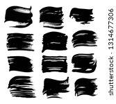 black brushstrokes of thick...   Shutterstock .eps vector #1314677306