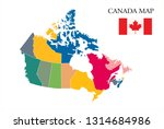 canada map drawing  canada... | Shutterstock .eps vector #1314684986
