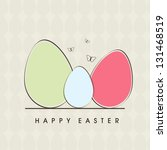 happy easter background with... | Shutterstock .eps vector #131468519