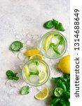Homemade Summer Basil Lemonade...