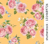 watercolor floral pattern with... | Shutterstock . vector #1314689726