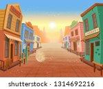 western town.vector... | Shutterstock .eps vector #1314692216
