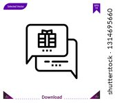 chat gift vector icon. best...