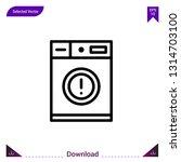 washing machine laundry vector...