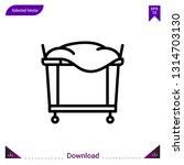 trolley laundry  vector icon....