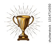 winner's trophy award. win ... | Shutterstock .eps vector #1314714350