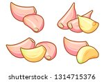 four different sets of peeled...   Shutterstock .eps vector #1314715376
