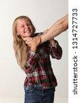 portrait girl with long blond...   Shutterstock . vector #1314727733