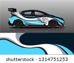 car wrap design vector  truck... | Shutterstock .eps vector #1314751253