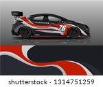 car wrap design vector  truck... | Shutterstock .eps vector #1314751259