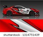 car wrap design vector  truck... | Shutterstock .eps vector #1314751439