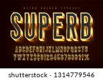 golden 3d shining font  gold... | Shutterstock .eps vector #1314779546