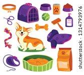 pet shop icons set. dog goods... | Shutterstock .eps vector #1314793976