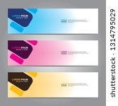 vector abstract web banner... | Shutterstock .eps vector #1314795029