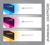 vector abstract web banner... | Shutterstock .eps vector #1314795230