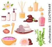 spa massage and beauty salon... | Shutterstock .eps vector #1314795449