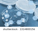 experiments in the laboratory | Shutterstock . vector #1314800156