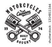 vintage motorcycle workshop... | Shutterstock . vector #1314811166